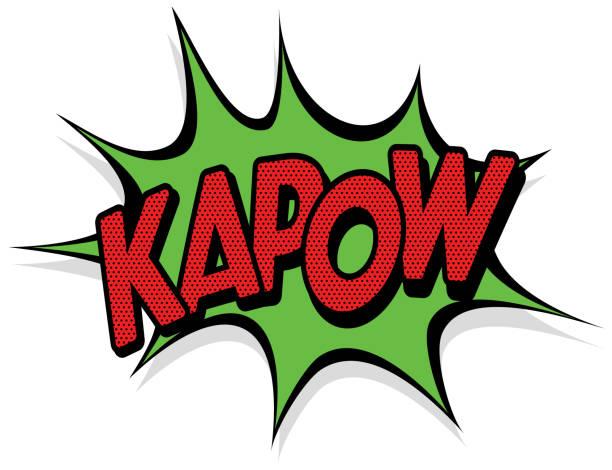 Kapow Effect Comic book effect bangs stock illustrations
