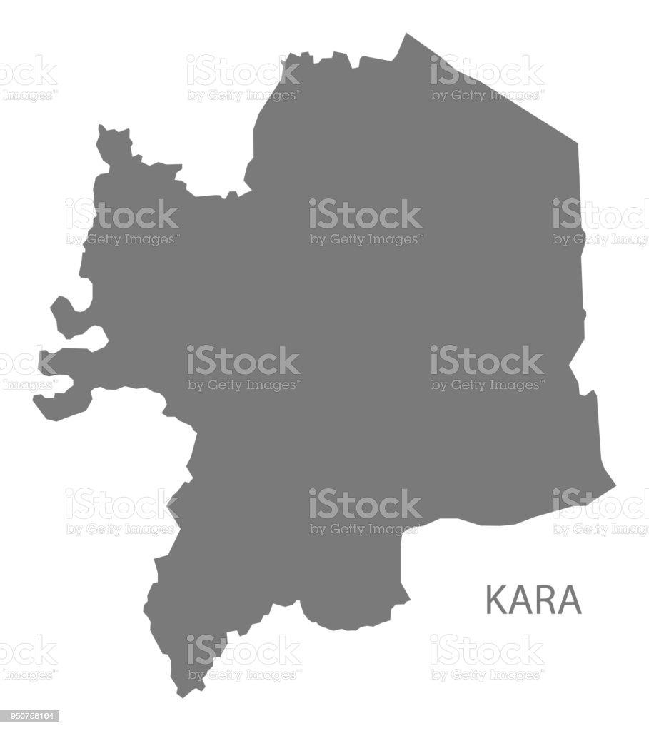 Kara Map Of Togo Grey Illustration Shape Stock Vector Art & More ...