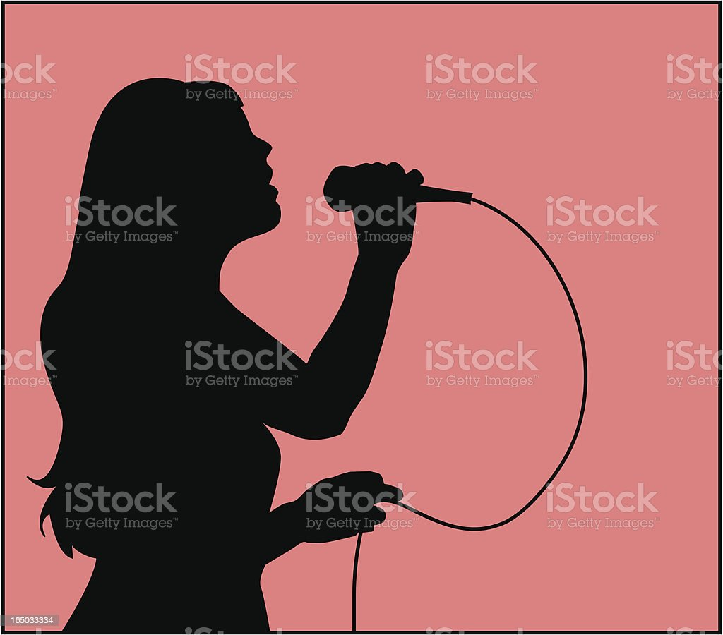 Karaoke Idol  ( Vector ) vector art illustration