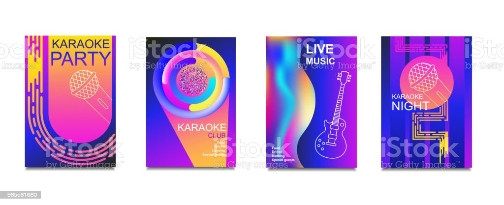 Karaoke Party Invitation Flyer Template Concept For A Night