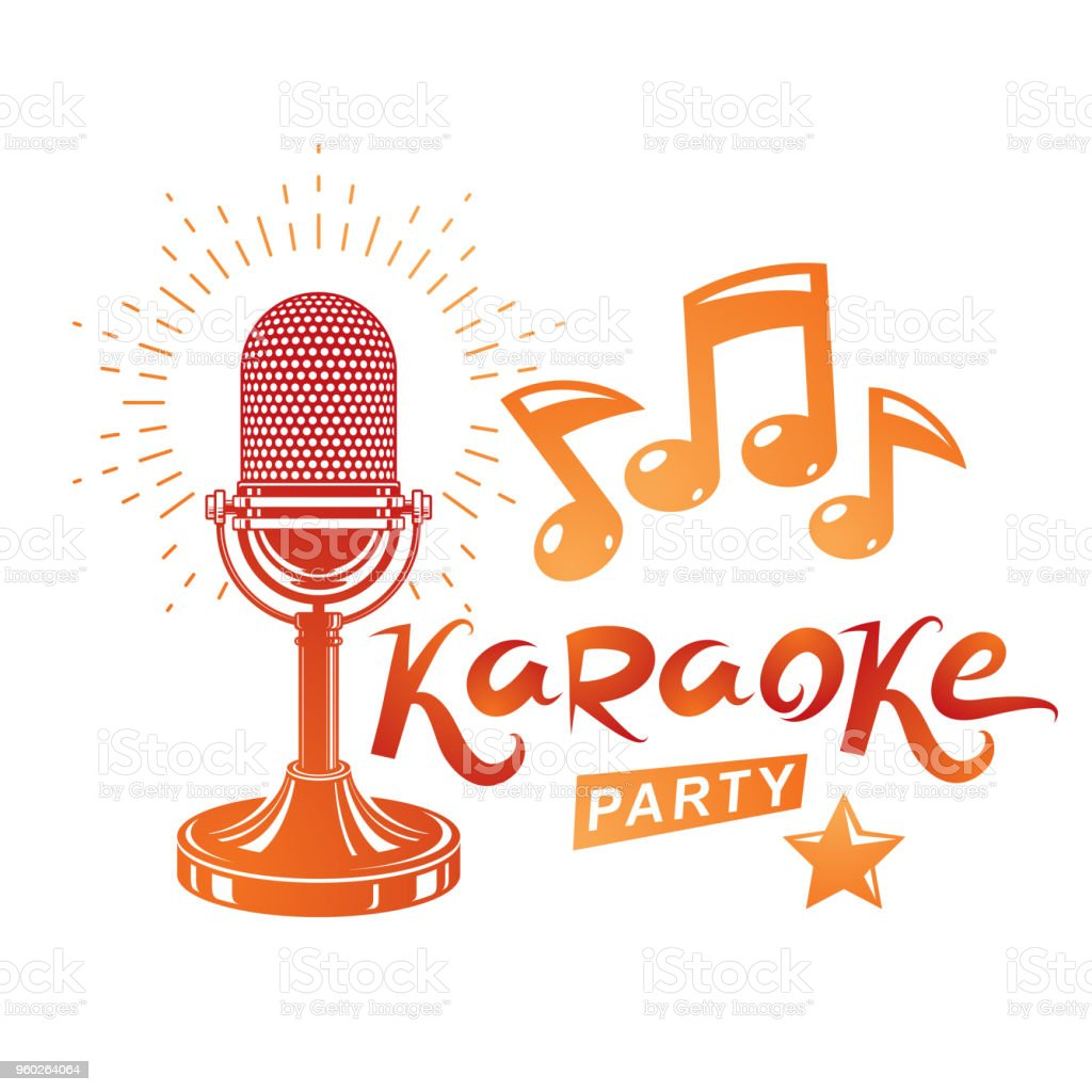 Karaoke Party Invitation Poster Live Music Vector Concert ...