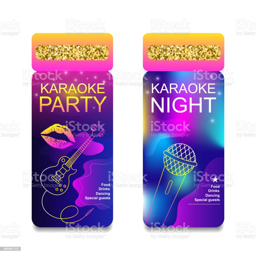 Karaoke Party Night Invitation Flyer Template Concept For A Night