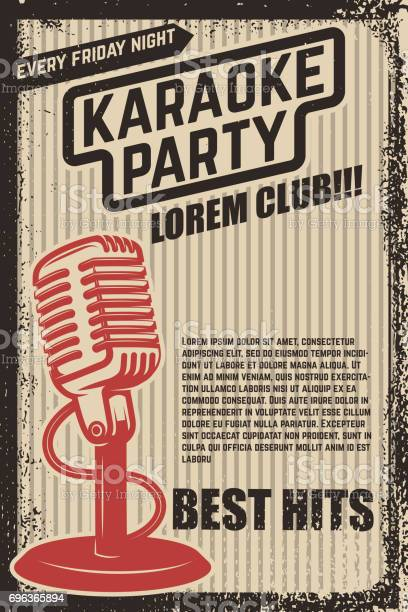 Karaoke party poster vintage microphone on grunge background design vector id696365894?b=1&k=6&m=696365894&s=612x612&h=bhribzmkhvpwz   phn tfkcp pfwulbcw9ig6vw2si=