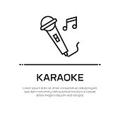 Karaoke Vector Line Icon - Simple Thin Line Icon, Premium Quality Design Element