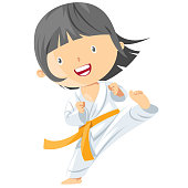 Vector Karate girl
