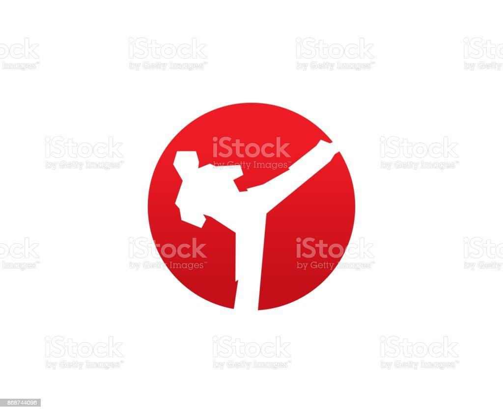 Karate icon vector art illustration