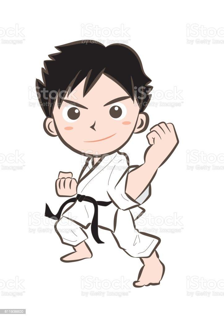 Karate image・Boy 7 - ilustração de arte em vetor