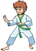 Karate Stance Boy