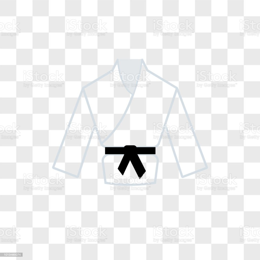Karate Vector Icon On Transparent Background Karate Icon Stock