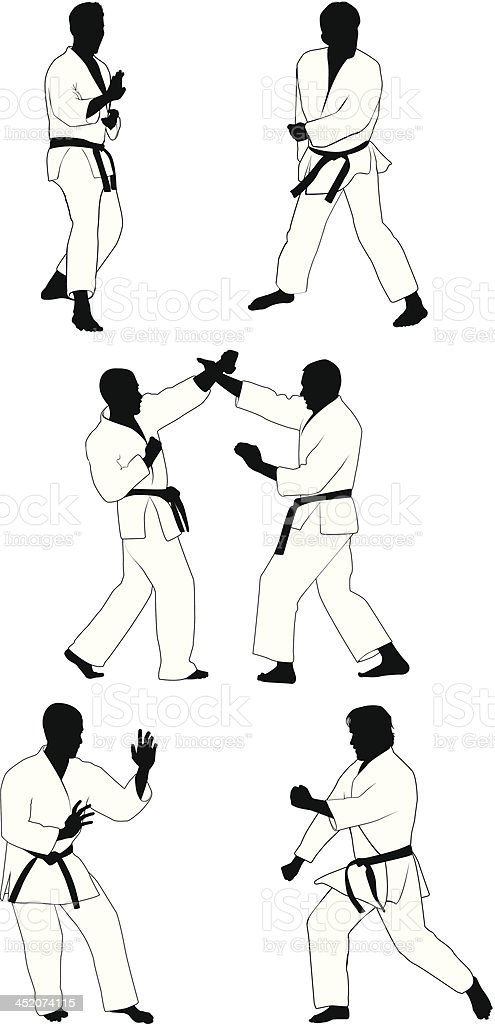 Karate royalty-free karate stock vector art & more images of activity
