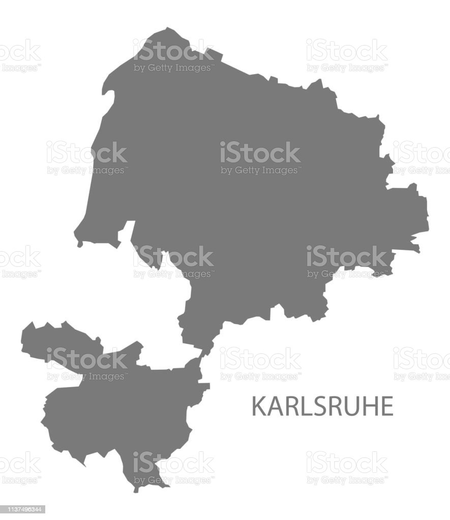 Karlsruhe Map Of Germany.Karlsruhe County Map Of Baden Wuerttemberg Germany Stock Illustration Download Image Now