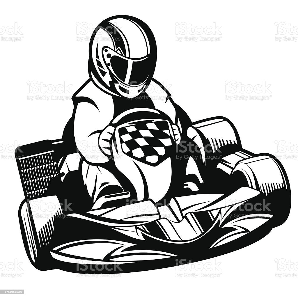 royalty free go kart clip art vector images illustrations istock rh istockphoto com go kart clip art images go kart racing clip art