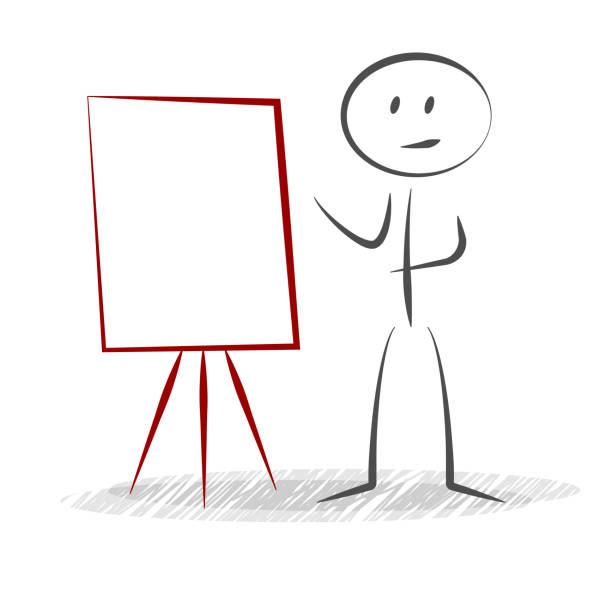 kartoxjm_tafel stick figure and business - vector tafel stock illustrations