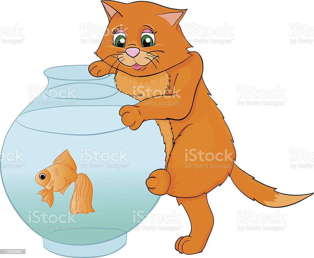 kat cartoon with isolation on a white background royalty-free stock vector art