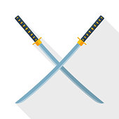 Katana swords icon