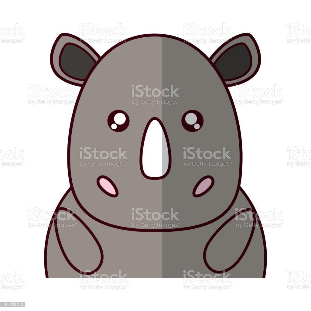 Kawaii Tier Symbol Stock Vektor Art und mehr Bilder von Auge ...