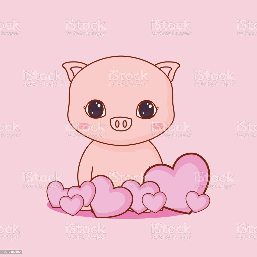 Image of: Vector Clipart Kawaii Animals And Love Design Illustration Istock Kawaii Animals And Love Design Stock Vector Art More Images Of