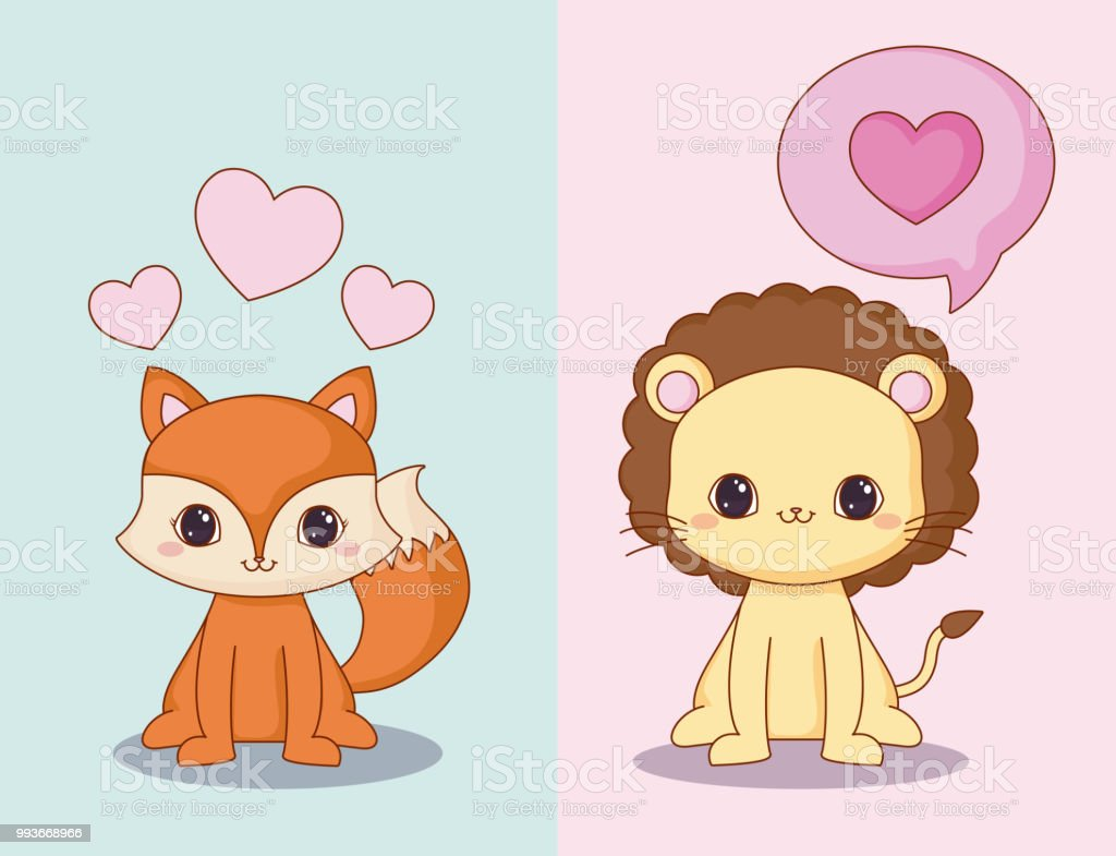 Image of: Staron Jumbo Kawaii Animals And Love Design Illustration Istock Kawaii Animals And Love Design Stock Vector Art More Images Of