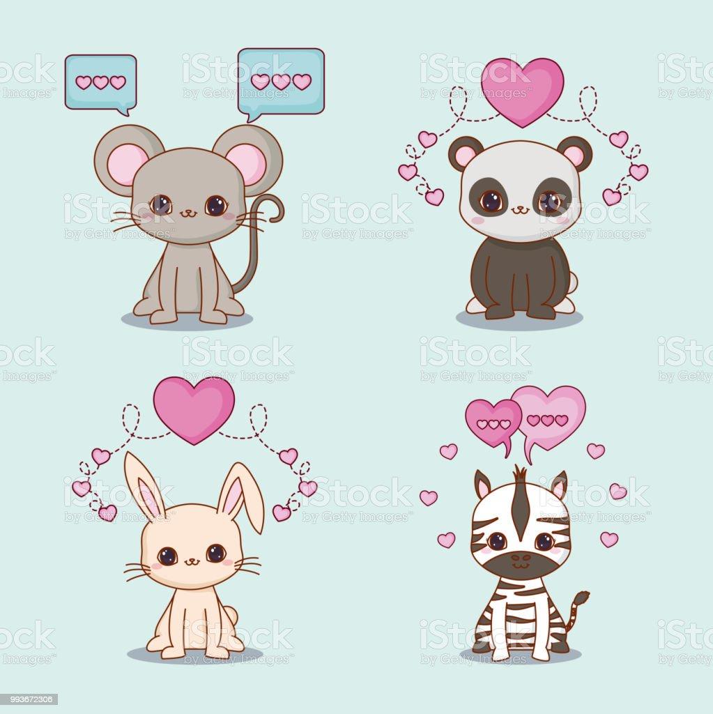 Kawaii animals desing