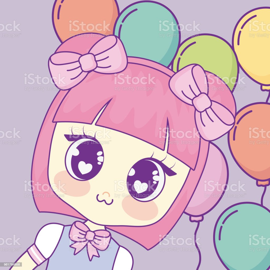 kawaii anime girl design stock vector art & more images of adult