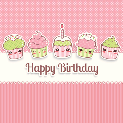 Kawaii Birthday Card