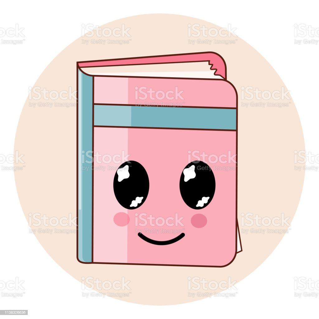 Icone De Livre Kawaii Isole Emoji De Style Plat De Dessin