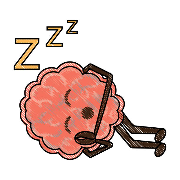 kawaii-gehirn-symbol - faules emoji stock-grafiken, -clipart, -cartoons und -symbole