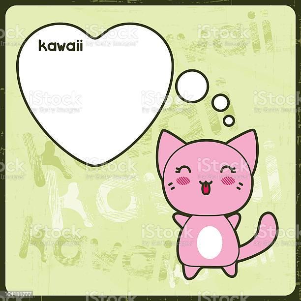 Kawaii card with cute cat on the grunge background vector id164111777?b=1&k=6&m=164111777&s=612x612&h=dux0ut4l9jyeyx4itwmx4ljguypycvj trd6gk3fhuq=