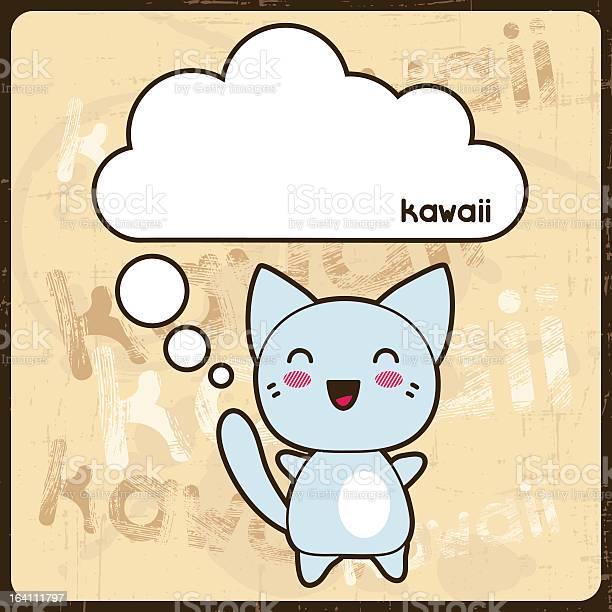 Kawaii card with cute cat on the grunge background vector id164111797?b=1&k=6&m=164111797&s=612x612&h=p uonpcj30uuvoynmpgjkfa8yyv2eyumxbiiq fe7ja=