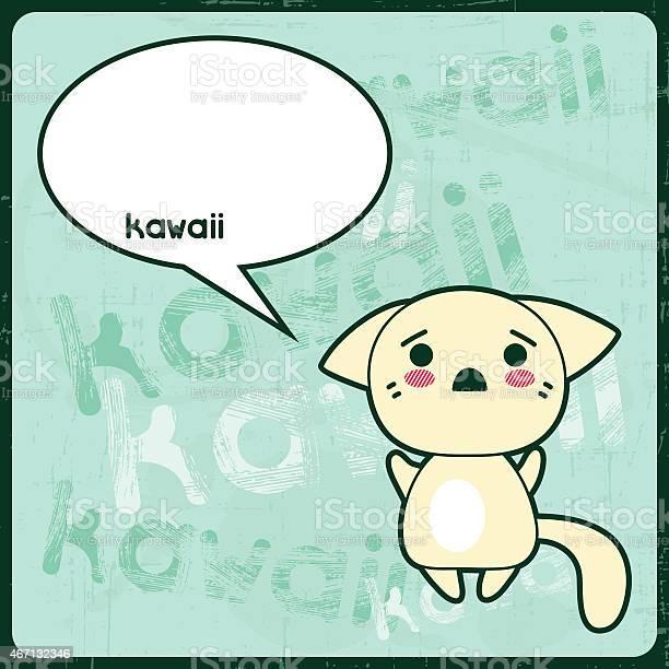Kawaii card with cute cat on the grunge background vector id467132346?b=1&k=6&m=467132346&s=612x612&h=8cuw9cfofwq8qcsctiebfdzqqxzrhbik btdb ag4ts=