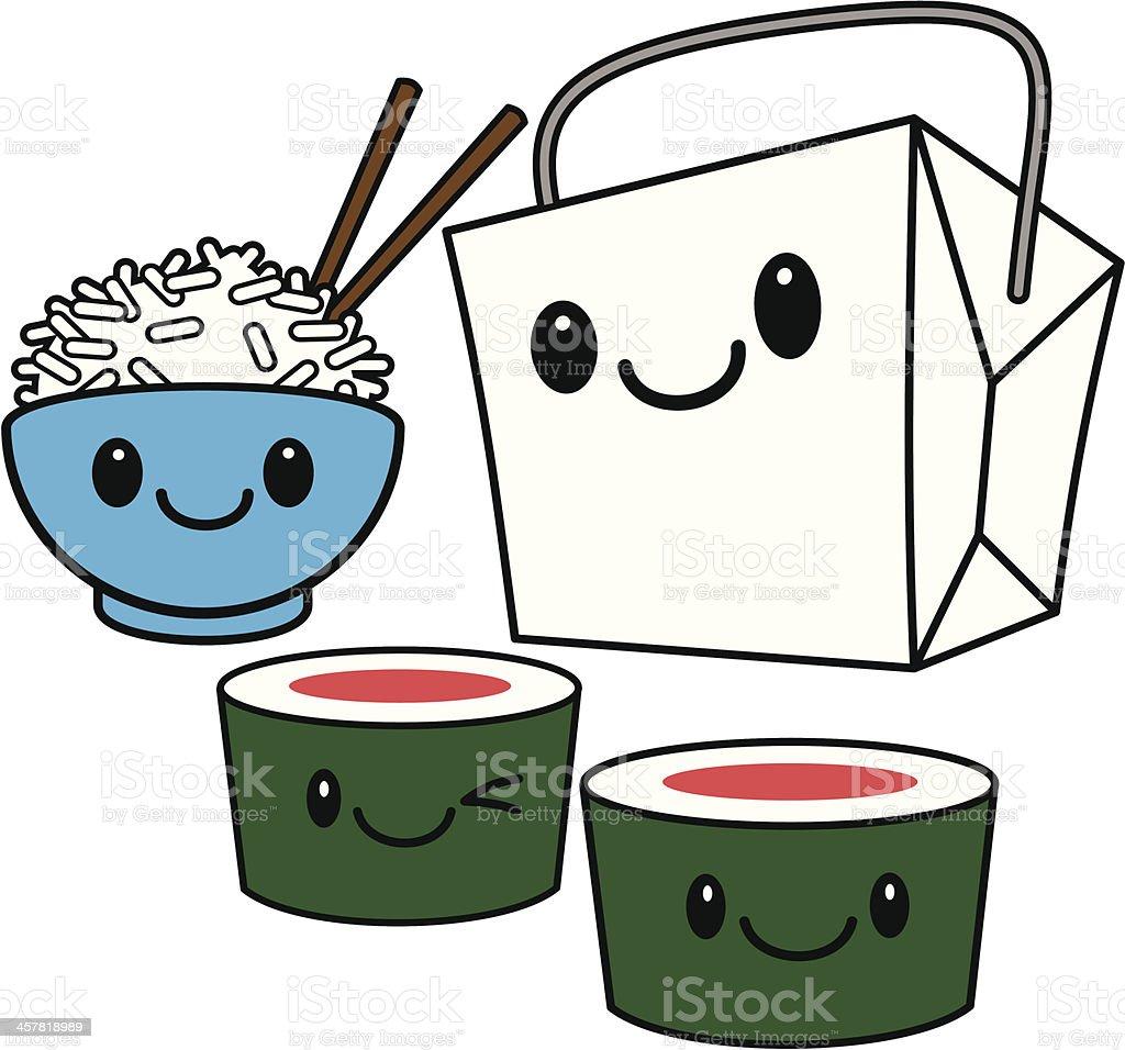 カワイイ中華料理 イラストレーションのベクターアート素材や画像を