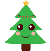 Celebration De Dessin Anime Pour Le Sapin De Noel Kawaii Cliparts