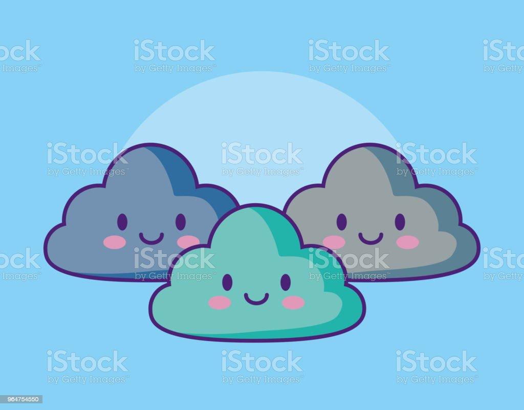 Kawaii cloud design royalty-free kawaii cloud design stock vector art & more images of affectionate