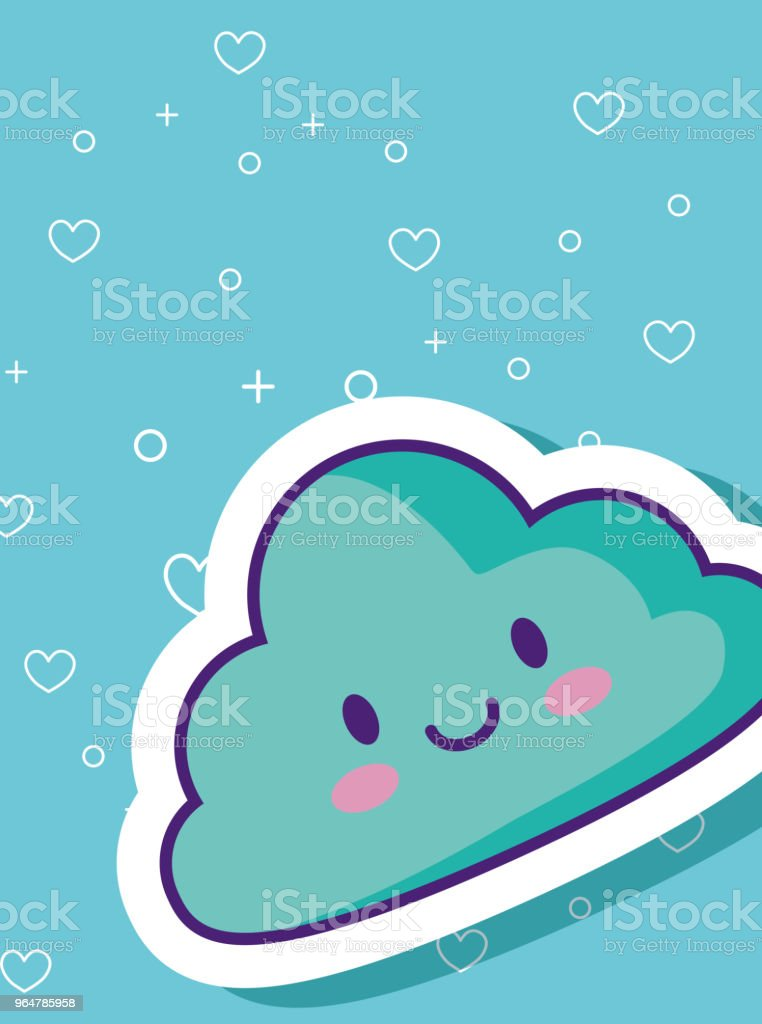 Kawaii cloud design royalty-free kawaii cloud design stock vector art & more images of affectionate