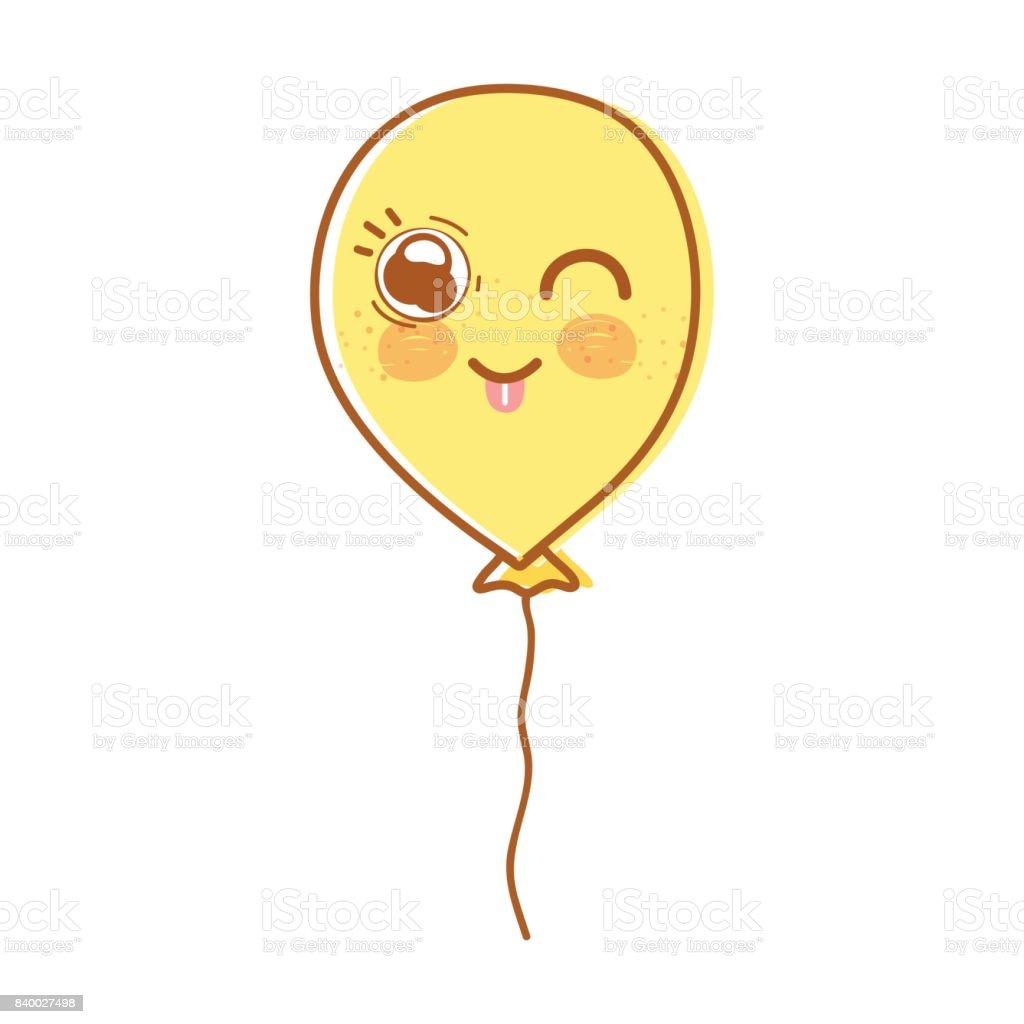 Kawaii Cute Funny Balloon Design Stock Illustration Download