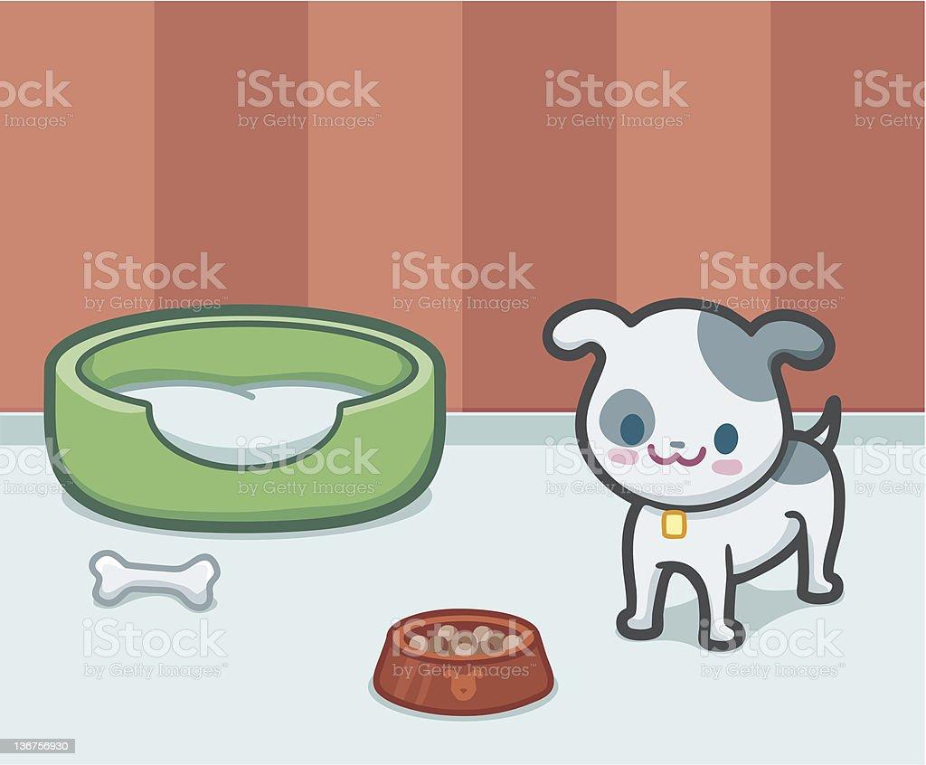 Kawaii Hund – Vektorgrafik