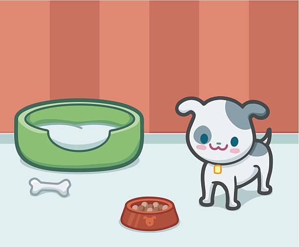 kawaii hund - hundebetten stock-grafiken, -clipart, -cartoons und -symbole