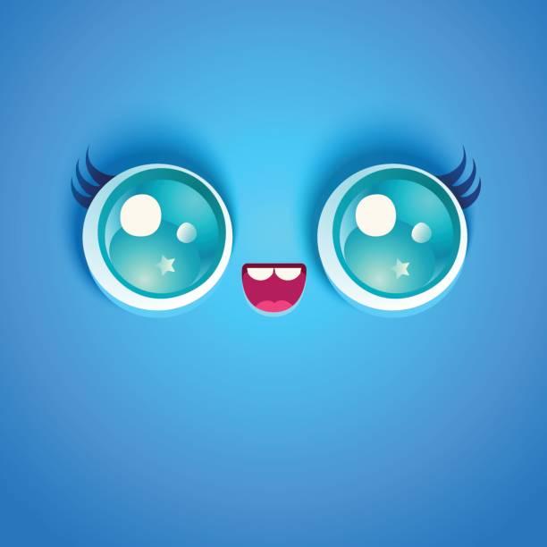 目のかわいい顔。 - 漫画のモンスター点のイラスト素材/クリップアート素材/マンガ素材/アイコン素材