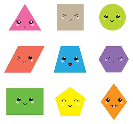 kawaii faces shapes