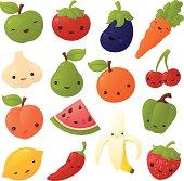 Kawaii Fruit and Veg