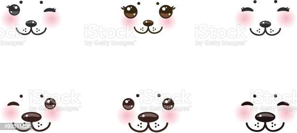 Kawaii funny albino animal white muzzle pink cheeks winking eyes vector id493511838?b=1&k=6&m=493511838&s=612x612&h=o2eo hsevfe0rpftytbegdbpxczu7kbpt3t6cjympa8=