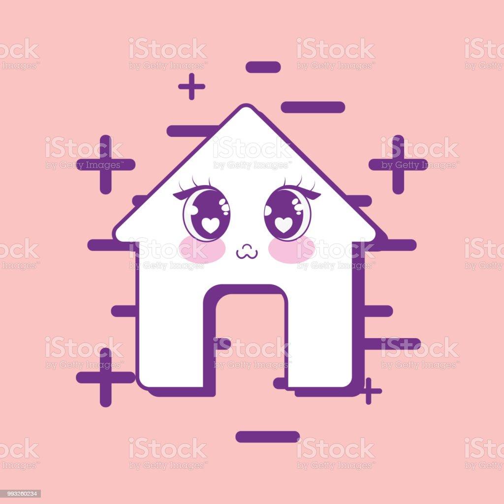 かわいい家のアイコン アイコンのベクターアート素材や画像を多数ご