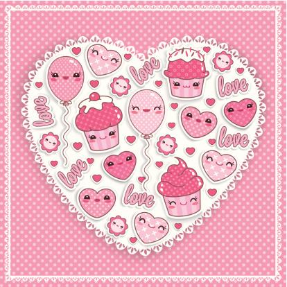 Kawaii Love card