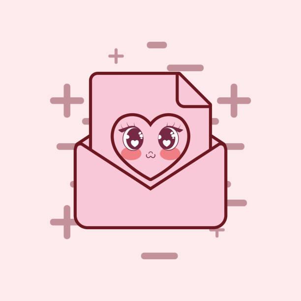 Vectores De Frases De Anime Sobre El Amor Y Illustraciones Libre De