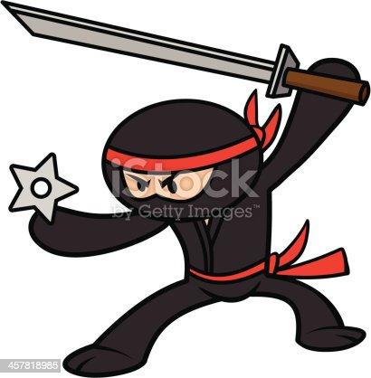 istock Kawaii Ninja 457818985