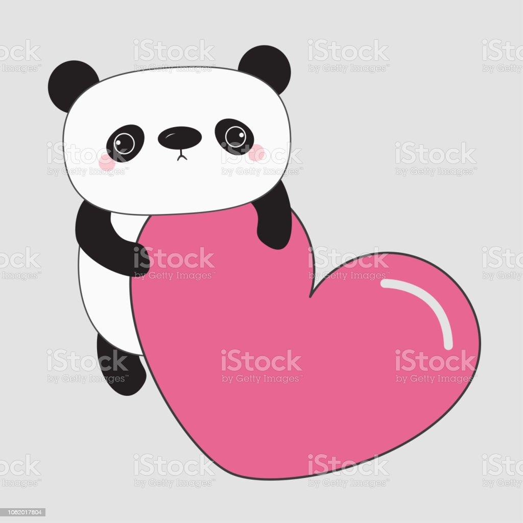 Ours De Bebe Panda Kawaii Personnage De Dessin Anime Mignon Tenant