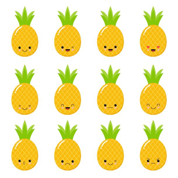 Pineapple Head Illustrations, Royalty-Free Vector Graphics ...