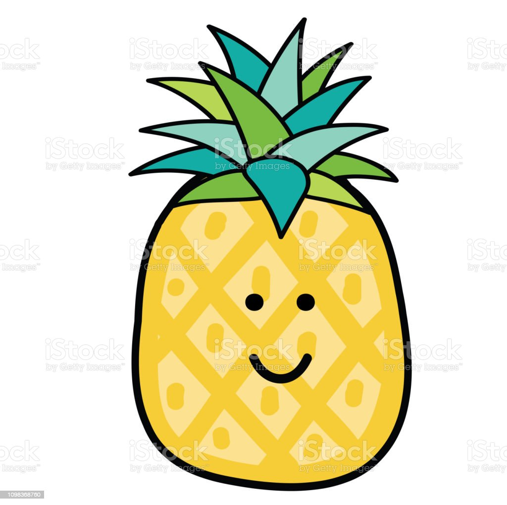 Kawaii Pineapple Stock Illustration Download Image Now