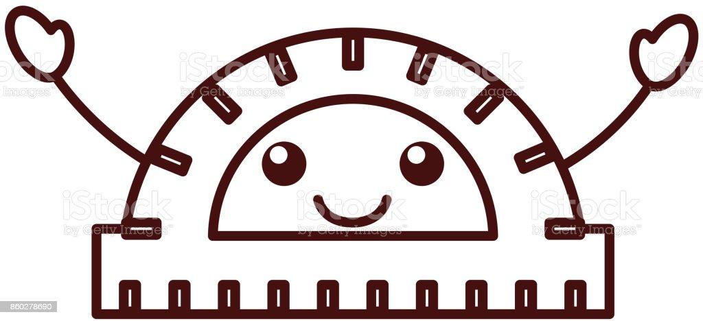 kawaii winkelmesser geometrische instrument winkel messen cartoon