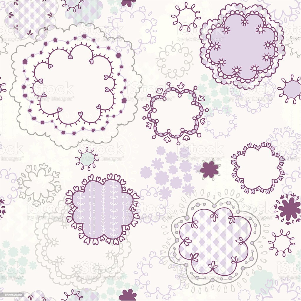 Kawaii seamless pattern vector art illustration